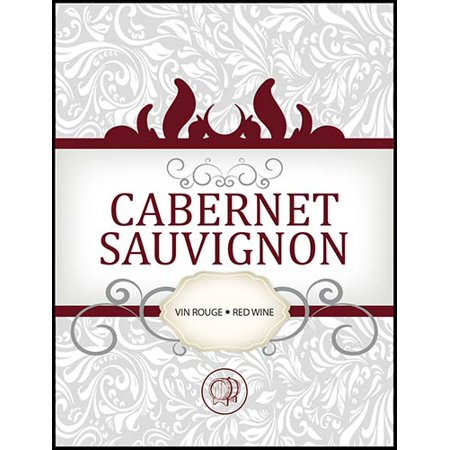 LD Carlson Cabernet Sauvignon Adhesive Wine Bottle Labels -