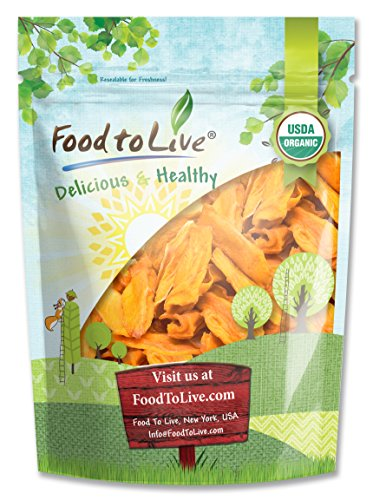 Food To Live ® Organic Mango Cheeks (Dried, Non-GMO, Unsulphured, Unsweetened, Bulk) (1.5 Pounds)
