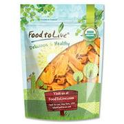 Organic Mango Cheeks, 1.5 Pounds - Dried, Non-GMO, Unsulphured, Unsweetened, Bulk - by Food to Live