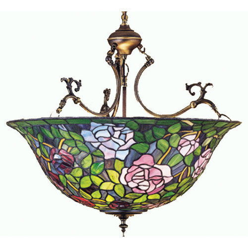 Meyda Tiffany Tiffany Rosebush 3 Light Inverted Pendant