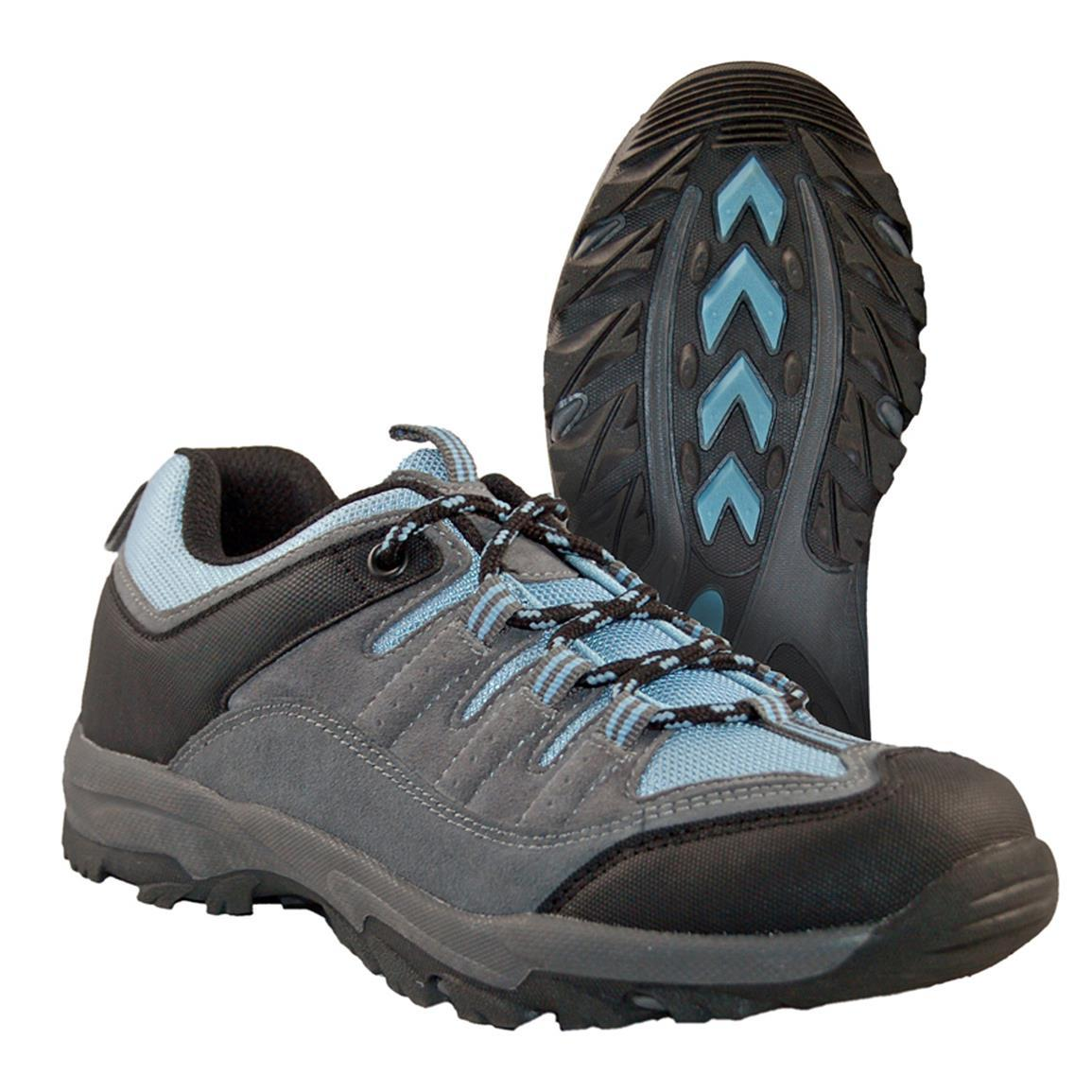 Itasca BRIDGEPORT Low Womens Grey Blue Lace up Hiking Boots Shoes