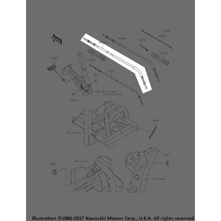 kawasaki 2016 mule pro fx fxt lh parking brake cable. Black Bedroom Furniture Sets. Home Design Ideas
