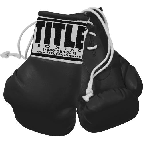 """Title Boxing 3"""" Mini Gloves-Black"""