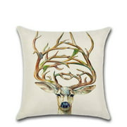 Clearance Sale 3D Animal Printed Series Soft Pillow Covers Cotton Linen Bed Home Pillow Case Smooth Pillowcase for Home Office Multi-color mixed