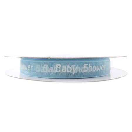 Baby Shower Print Organza Ribbon, 3/8-inch, 25-yard (Baby Shower Ribbons)