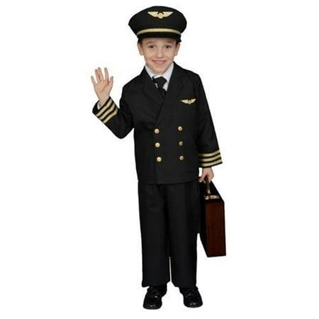Dress Up America 365-S Pilot Boy Jacket Costume - Size Small 4-6