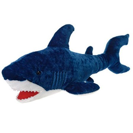 Large Blue Shark Plush Stuffed Animal Toy By Fiesta Toys