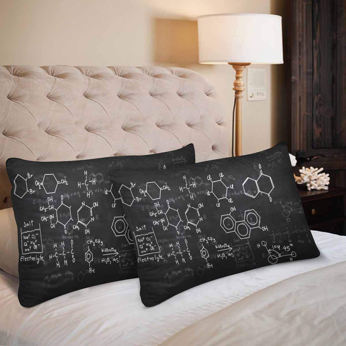 GCKG Chemical Formulas Chalkboard Pillow Cases Pillowcase 20x30 inches Set of 2 - image 3 of 4