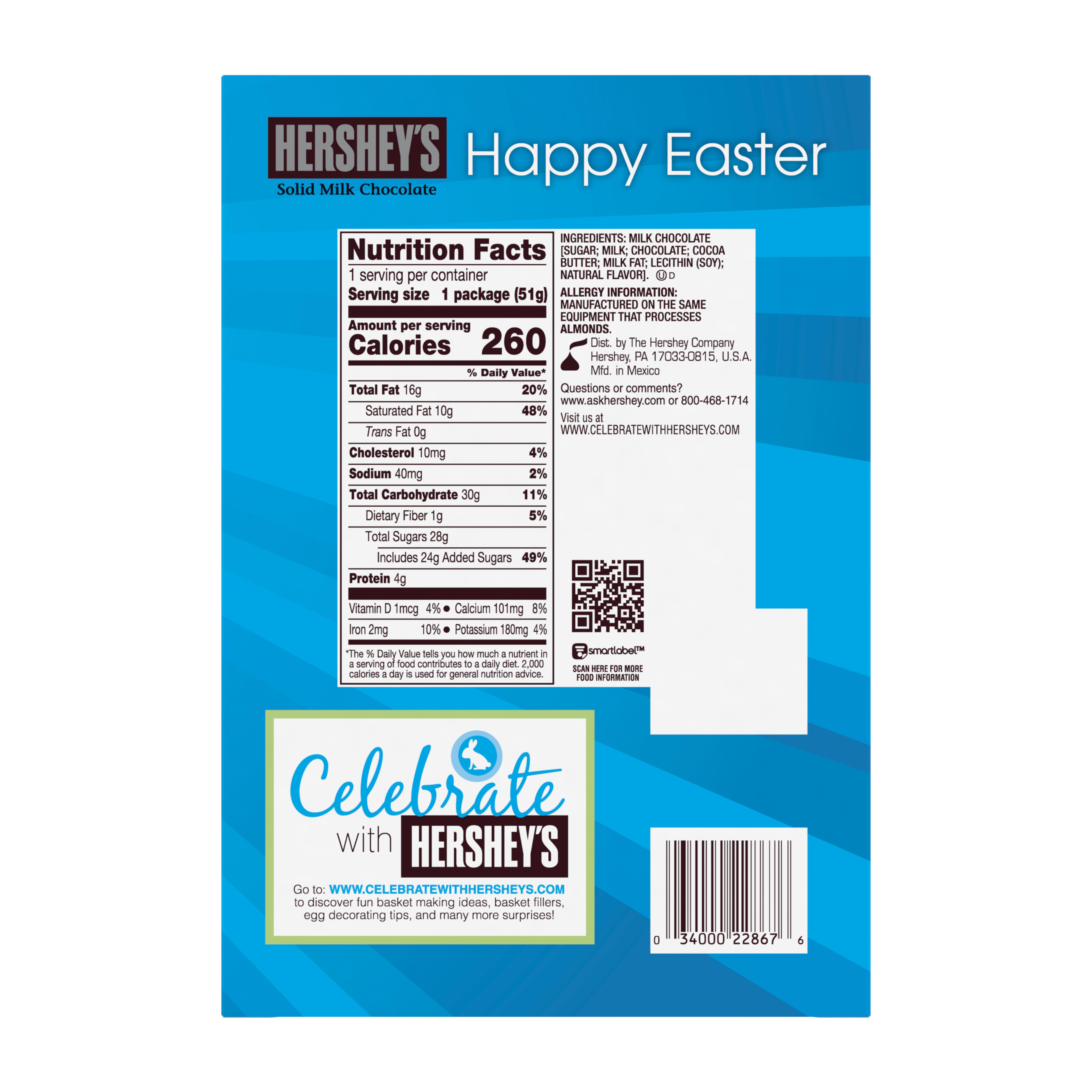 HERSHEY S Easter Solid Milk Chocolate Cross 1 8 Ounces Walmart