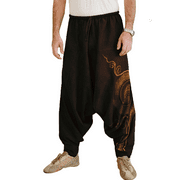 Men/'s Casual Harem Trousers Hippy Pants Jogger Jogging Drop Crotch Long Trousers