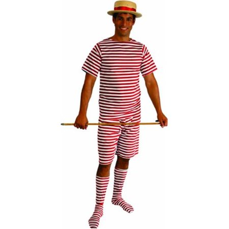 Alexander Costume 18-025-R Old Fashion Bathing Suit Mens - 1X, Red - Best Family Halloween Costumes Ideas