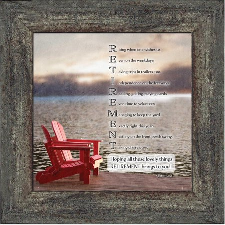 Retirement Night Photo (Retirement, Gift idea for Men and Women, Picture Frame, 10X10 8601)