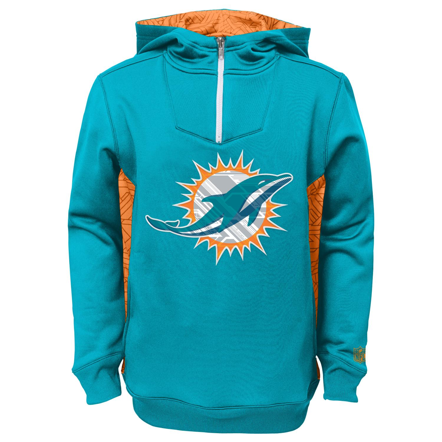 "Miami Dolphins Youth NFL ""Power Logo"" Performance Hooded Sweatshirt"