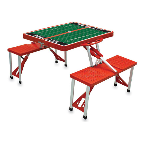 "Picnic Time Folding Table Sport NC State University Wolfpack  33.625"" x 4 x15"""