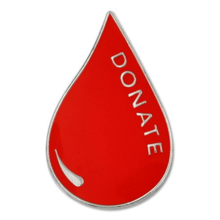 Red Blood Donor Awareness Enamel Lapel Pin ()