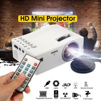 UNIC 400LM Mini Portable Home Outdoor Multimedia Compact Pocket LED Video Gaming Projector Home Cinema Theater AV USB TF HDM Support 1080P For Laptop, PC, DVD, Gaming Consoles