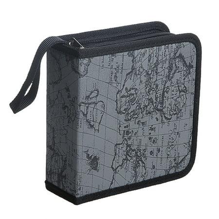 World Global Map CD DVD Holder 40 Disc DJ Storage Organizer Wallet Case Bag Album
