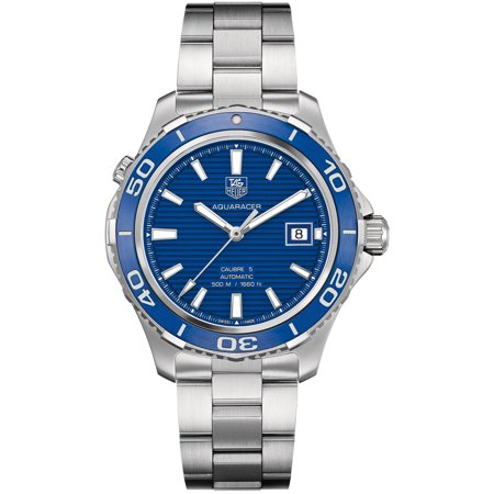 Tag Heuer Aquaracer Calibre 5 Blue Dial Stainless Steel Automatic Mens