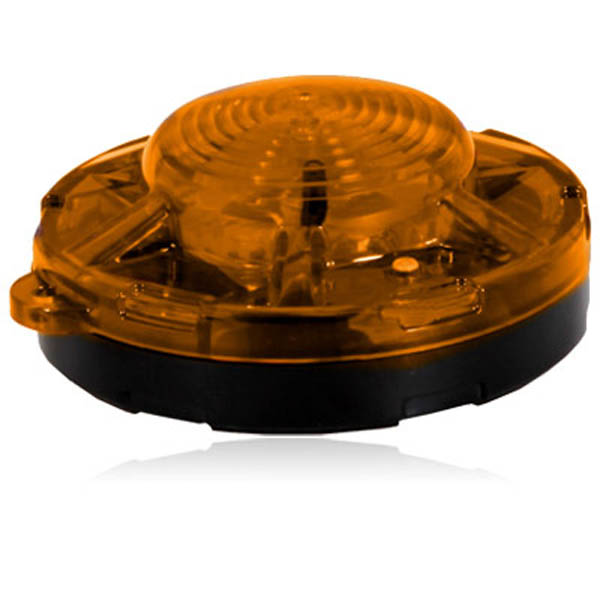 "Maxxima Amber 3.50"" Round Battery Operated Emergency LED Flasher Light"