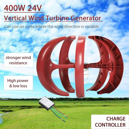 24V 400W Lantern Type 5-Blade Vertical Axis Wind Turbine Generator  Controller