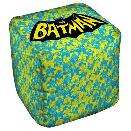 Batman Classic Tv Classic Tv Show Logo Cube(Ottoman) White 18X18X18