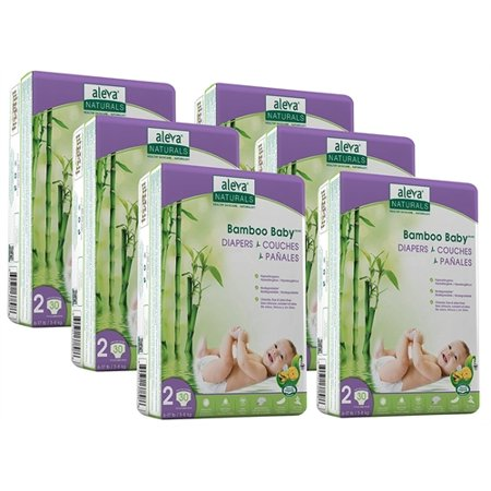 Image of Aleva Naturals Bamboo Baby ® Diapers, Size 2, 180 Diapers
