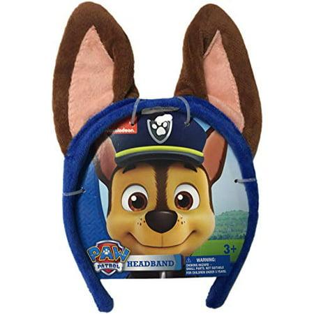 Paw Patrol Dog Ears Headband - Chase The German Shepherd
