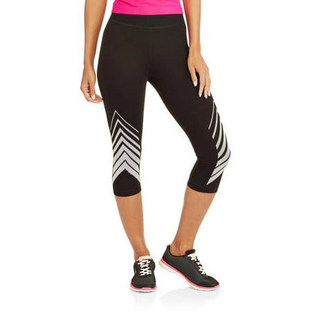 6dba4dab6f80d0 Athletic Works - Women's Fitspiration Cotton Graphic Capri Legging -  Walmart.com