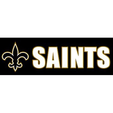 SAINTS Sticker Decal(love fleur de lis new orleans who dat) 3 x 9 - Fleur De Lis Stickers