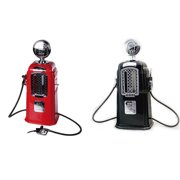 Retro Gas Station Beverage Drink Dispenser with Double Pumps Holds Up To 2000ml