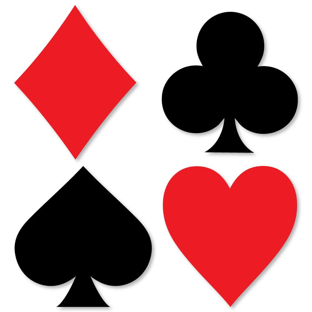 Las Vegas - Shaped Casino Party Cut-Outs - 24 Count