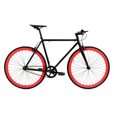 Gold Cross Cycles - Golden Cycles Viper Black/Red Fixed Gear 52 cm