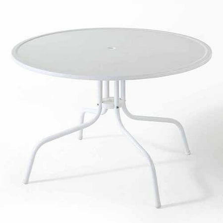 Crosley Griffith 40u0022 Metal Dining Table in White