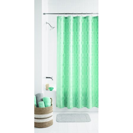 Mainstays Geo Jacquard Fabric Shower Curtain Walmartcom