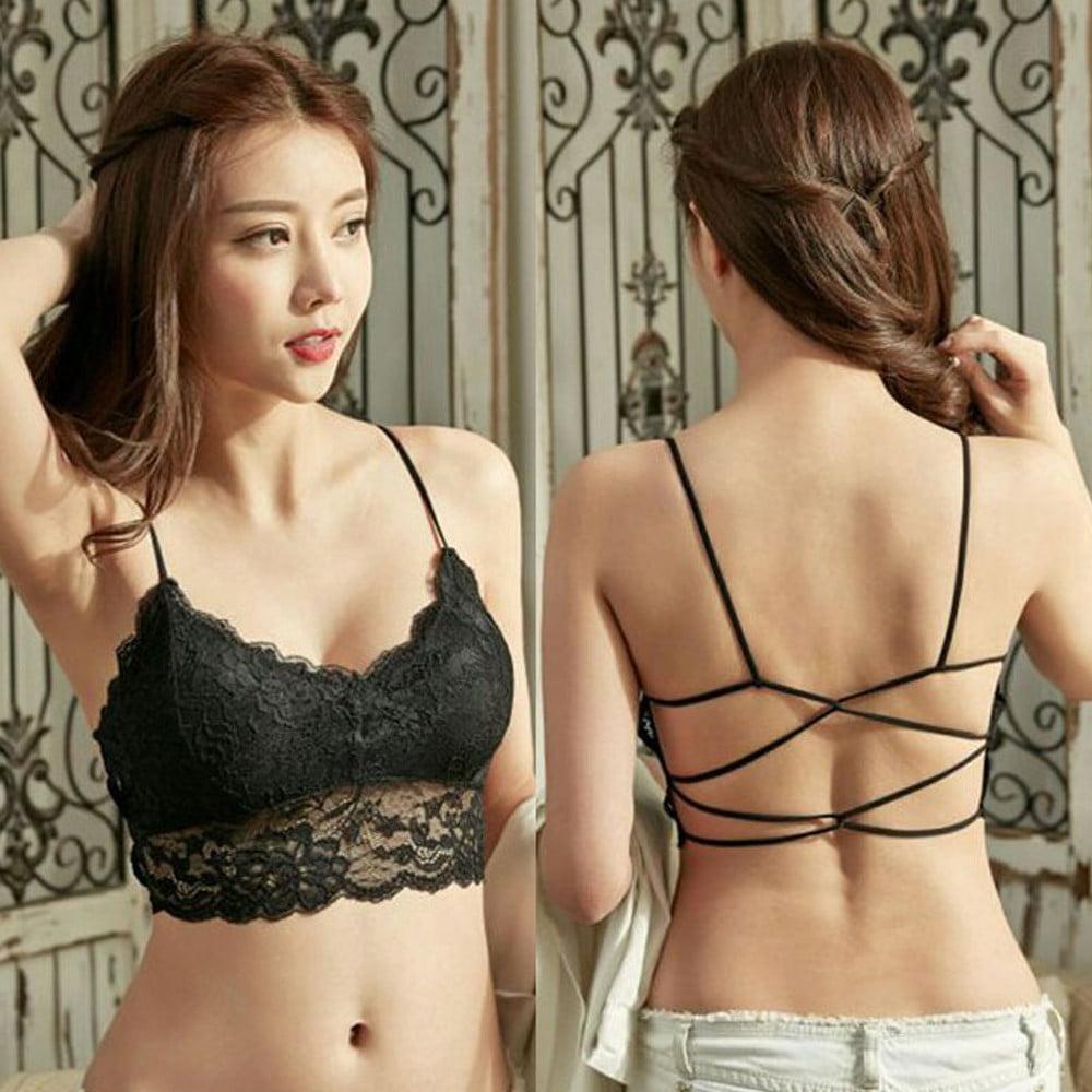 Ladies backless slim sexy galeries underwear bras solid women's strapless brassiere