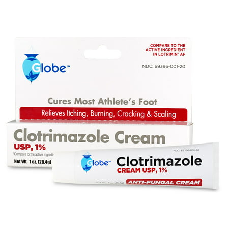 Aspirin Active Ingredients (1 Tube of Clotrimazole 1% USP 1 Oz, Compare to Lotrimin Active)