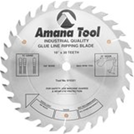 Amana Tool 610301 Glue Line Ripping 10-Inch x 30 Tooth TCG 5/8 Bore Saw Blade ()
