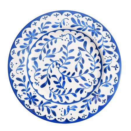 Better Homes & Gardens Lisben Melamine Blue & White Dinner Plate