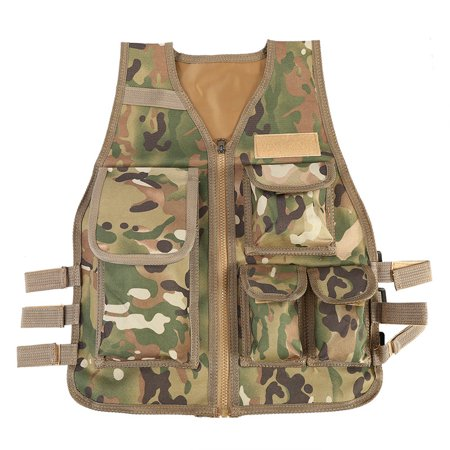 Tactical Vest Nylon CS Game Molle Body Armor Vest For Children