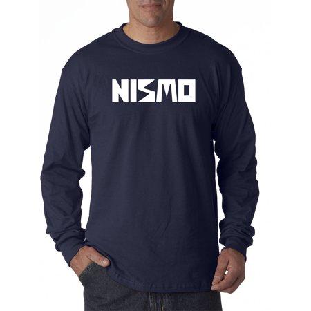 New Way 916 - Unisex Long-Sleeve T-Shirt Nismo Old School Logo Nissan Motorsports Large Navy (Old Navy Size Chart)