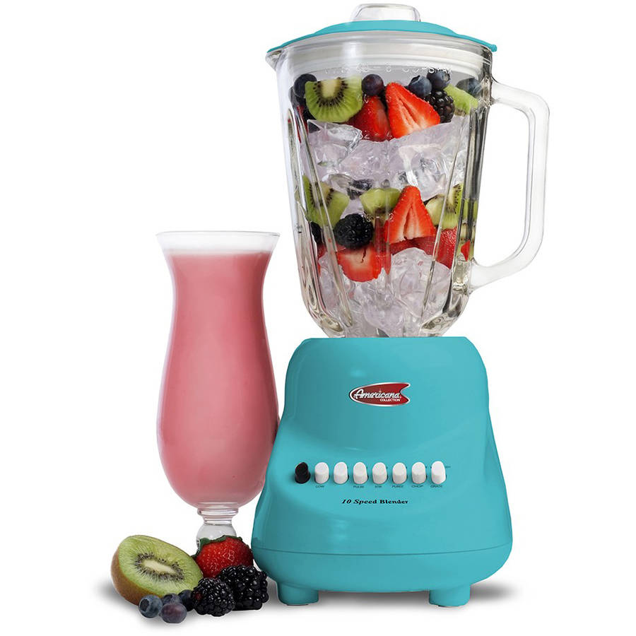 Maxi Matic Americana by Elite 10-Speed Blender with 48 oz Glass Jar, White