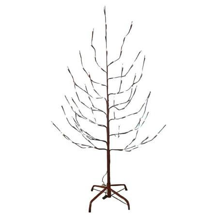 Brown Twig Slim Pre-lit Christmas Tree