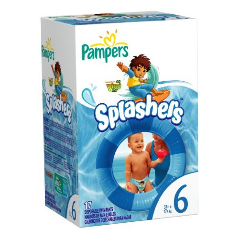 Pampers Splashers Size 6 Diapers 17 Count