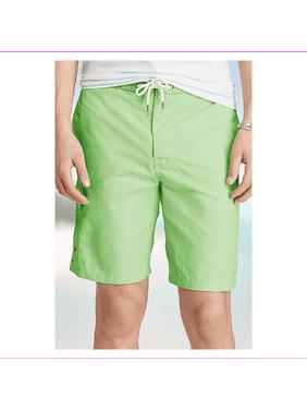 Polo Ralph Lauren Mens Kailua Mesh Lined Embroidered Swim Trunks Green L