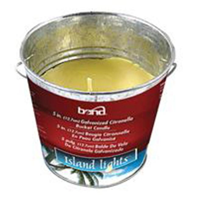 Bond Mfg 989648 5 inch Galvanized Citronella Bucket Candle