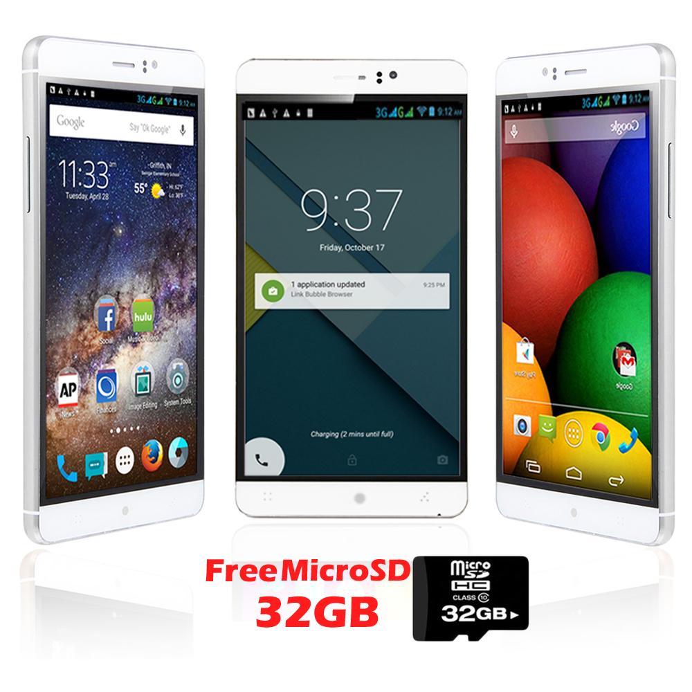 "Indigi® Factory Unlocked 3G 6"" DualSim SmartPhone Android 5.1 Lollipop w/ WiFi + Bluetooth Sync + 32"