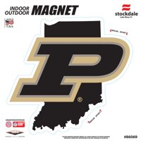 """Purdue Boilermakers 6"""" x 6"""" State Shape Car Magnet"""