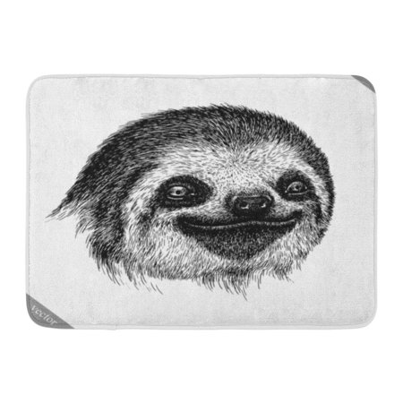 Godpok Animal Sketch Black And White Engrave Sloth Ancient