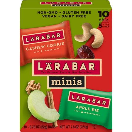 - Larabar® Minis Cashew Cookie/Apple Pie 10 ct 7.8 oz Value Pack Box