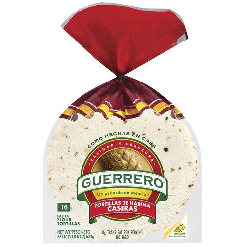 Guerrero Fajita Flour Tortillas, 22 oz, 16ct